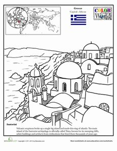 Mediterranean coloring #17, Download drawings