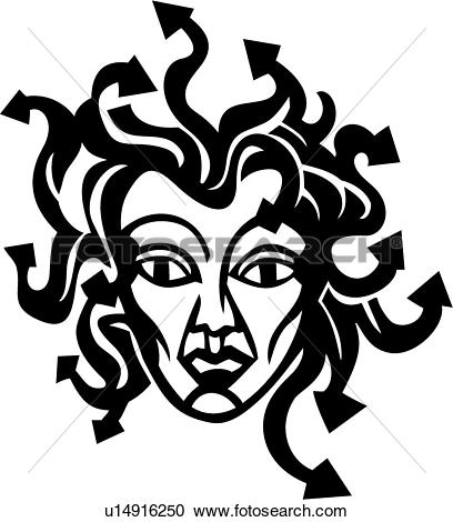 Medusa clipart #9, Download drawings