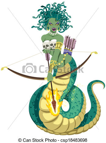 Medusa clipart #5, Download drawings