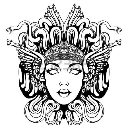 Medusa clipart #10, Download drawings