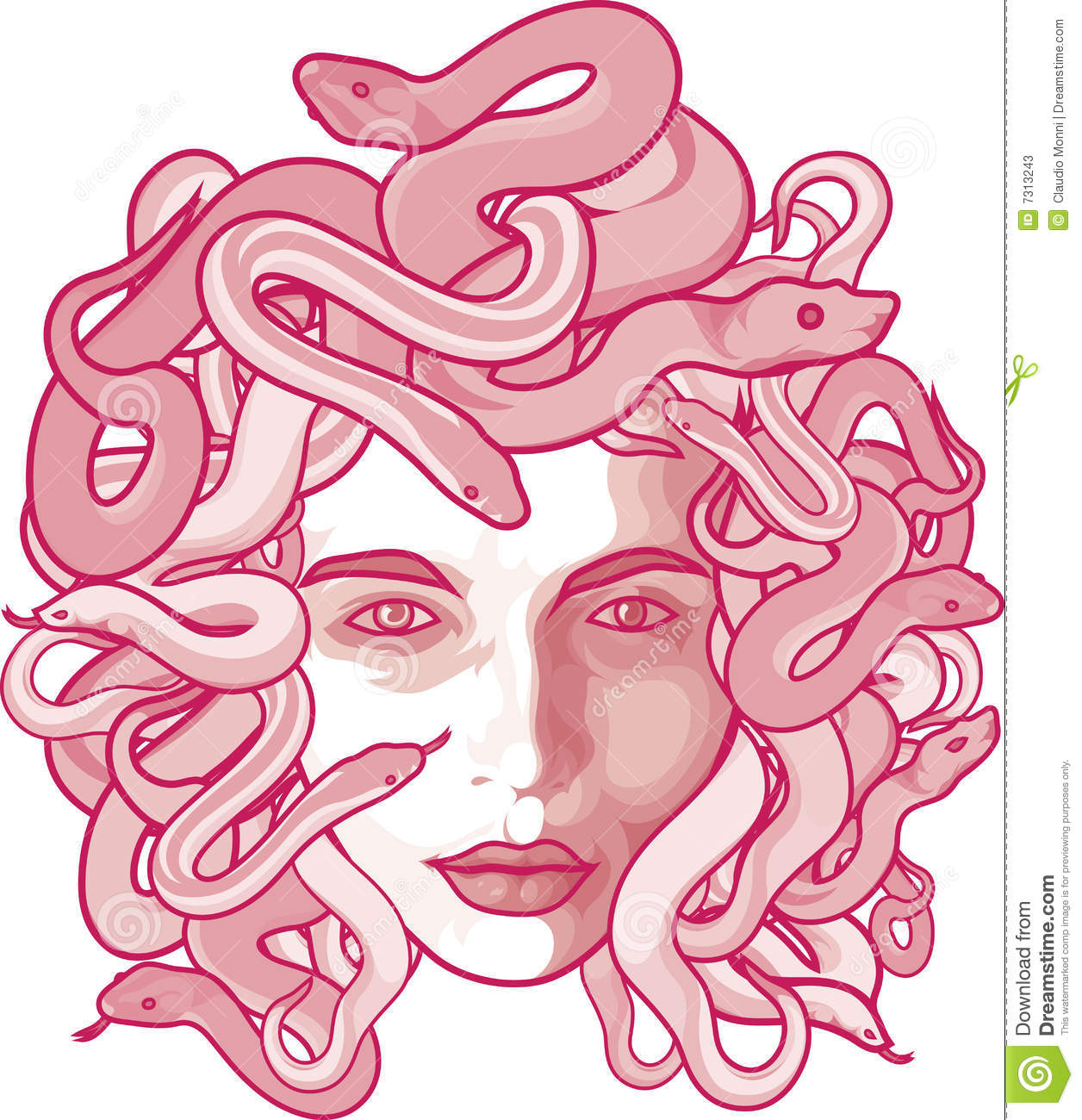 Medusa clipart #11, Download drawings
