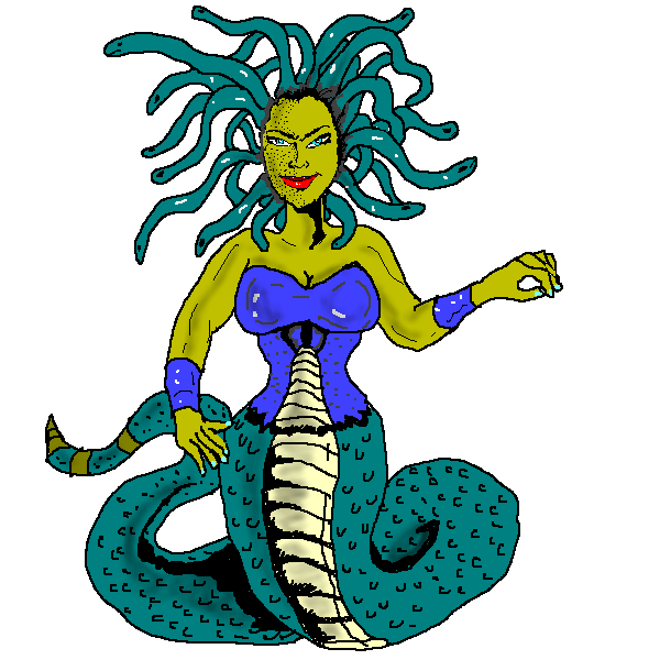 Medusa clipart #3, Download drawings