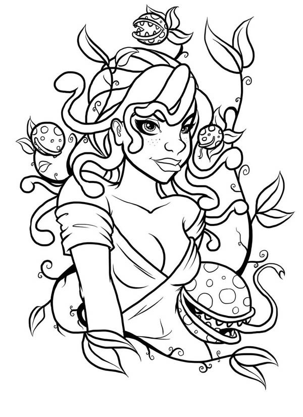 Medusa coloring #5, Download drawings