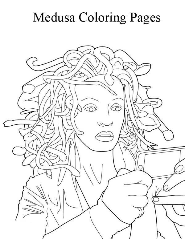 Medusa coloring #8, Download drawings