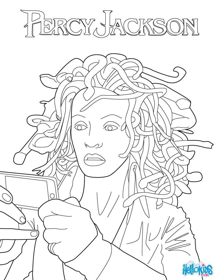 Medusa coloring #19, Download drawings