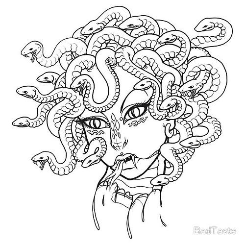 Medusa coloring #11, Download drawings