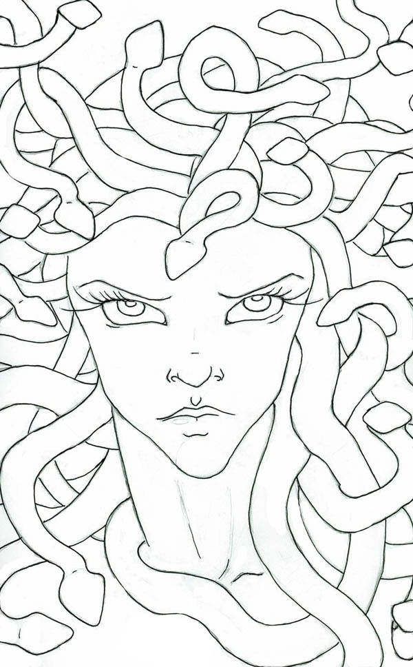 Medusa coloring #9, Download drawings