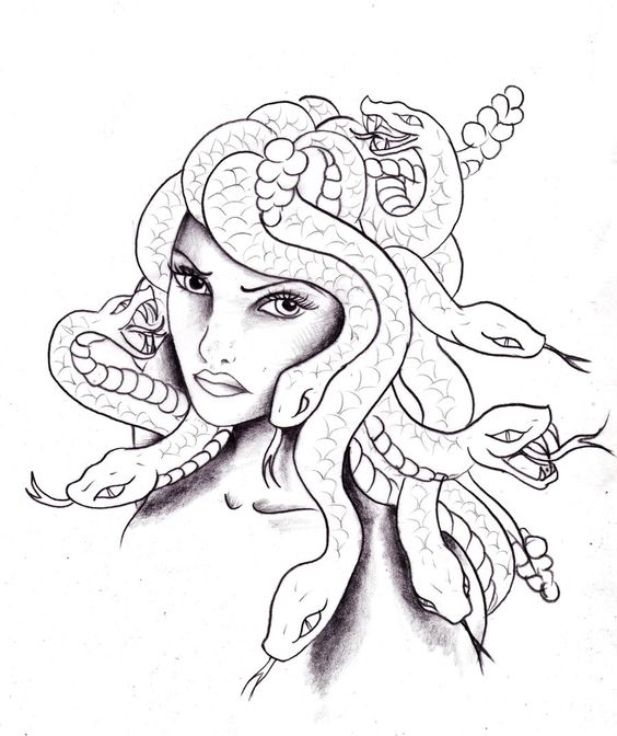 Medusa coloring #10, Download drawings