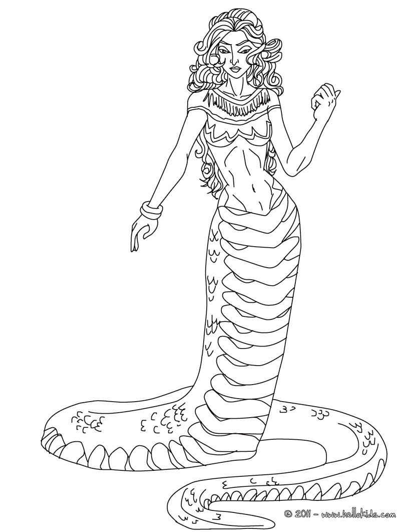 Medusa coloring #15, Download drawings