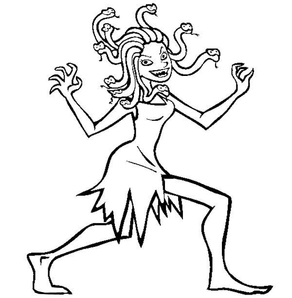 Medusa coloring #16, Download drawings