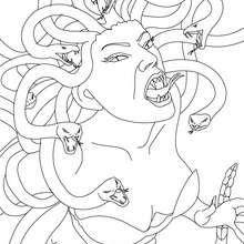 Medusa coloring #13, Download drawings
