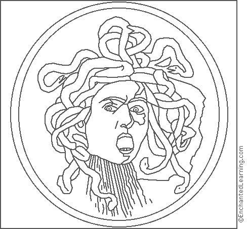 Medusa coloring #18, Download drawings