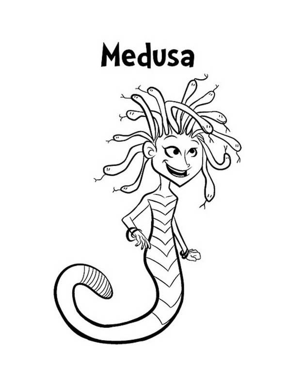 Medusa coloring #17, Download drawings