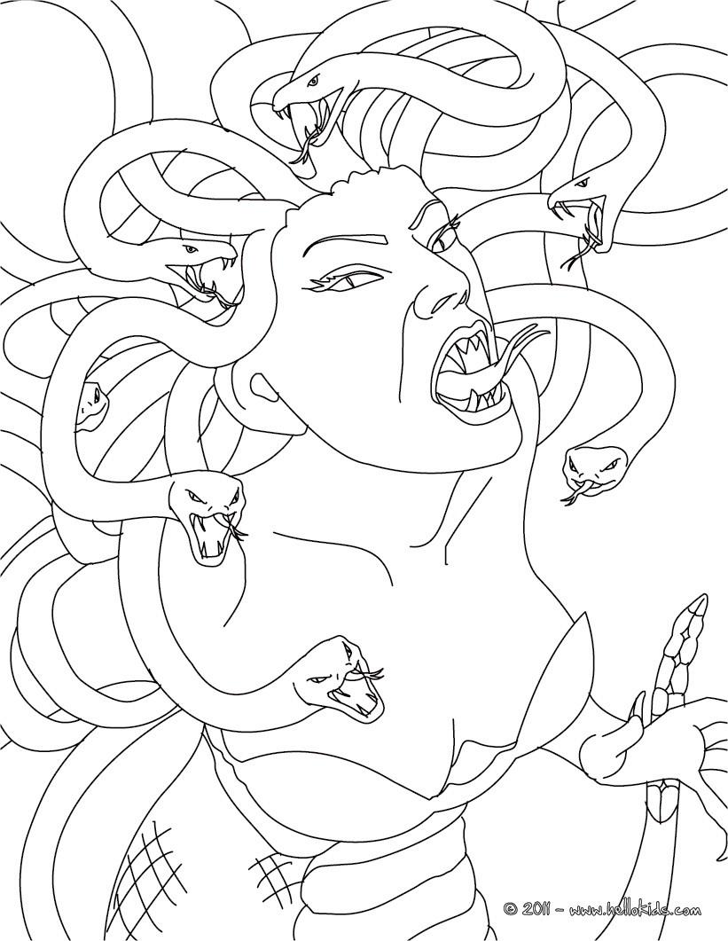 Medusa coloring #12, Download drawings