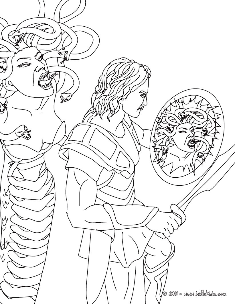 Perseus coloring #5, Download drawings