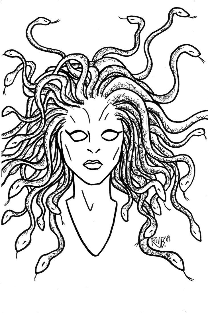 Medusa coloring #20, Download drawings