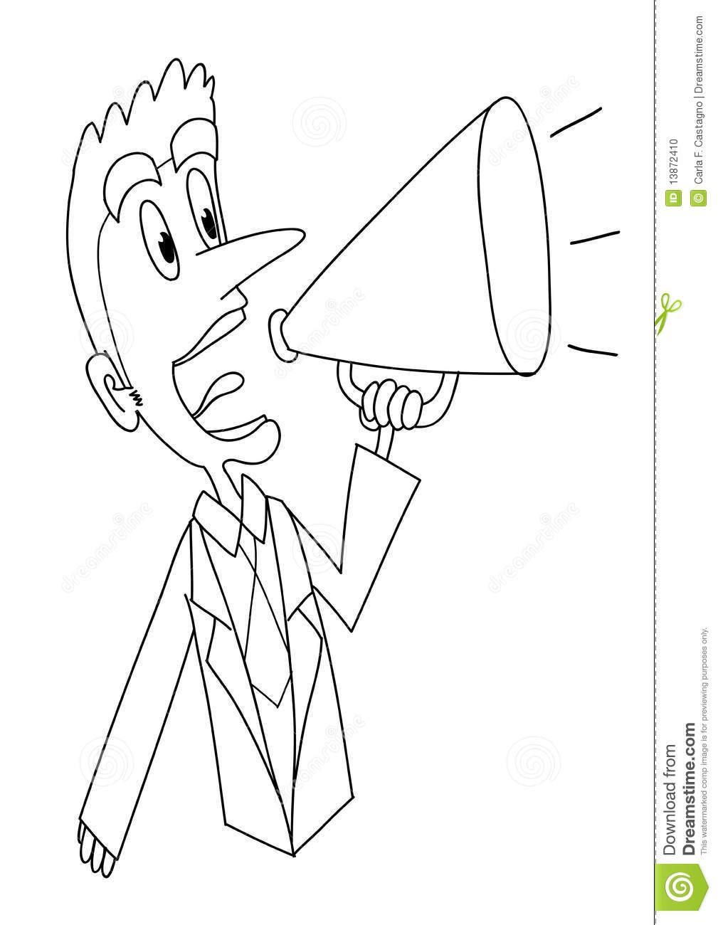 megaphone coloring pages - photo#13