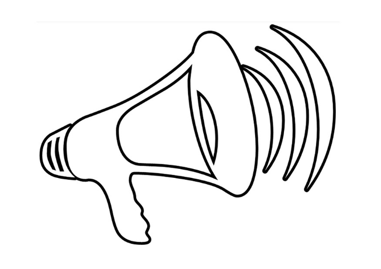 Megaphone coloring #3, Download drawings