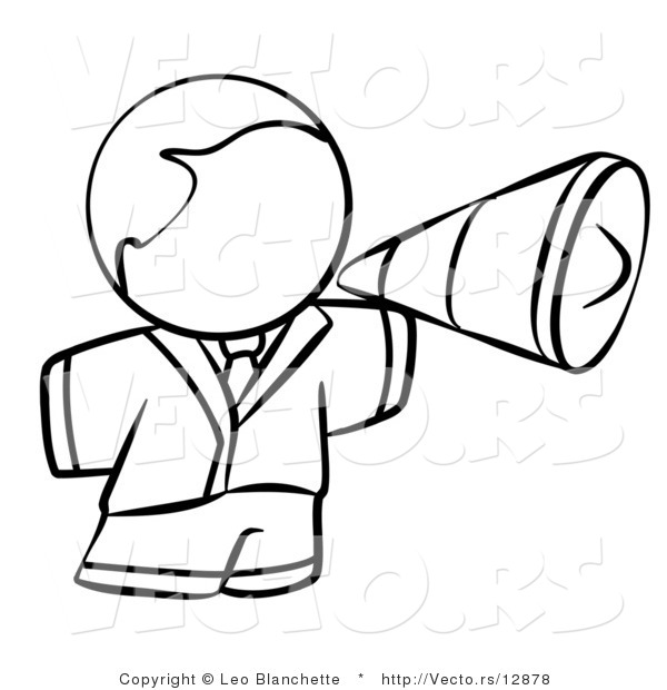 megaphone coloring pages - photo#16