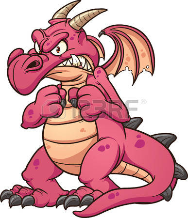 Megenta The Dragon clipart #15, Download drawings