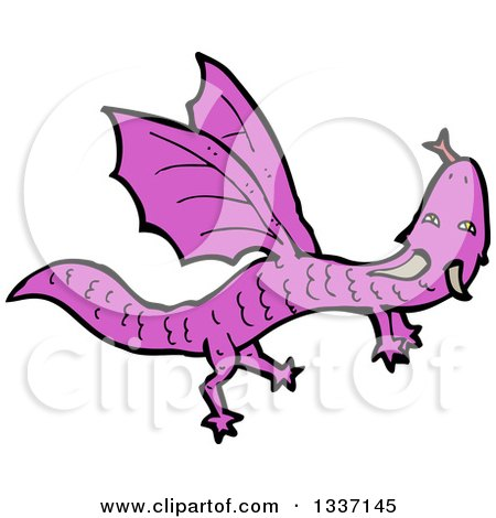 Megenta The Dragon clipart #2, Download drawings