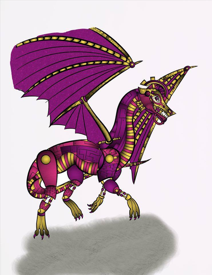 Megenta The Dragon coloring #16, Download drawings