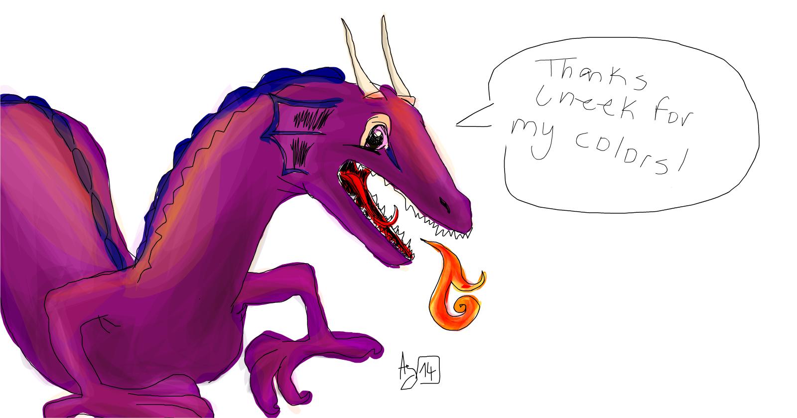 Megenta The Dragon coloring #13, Download drawings