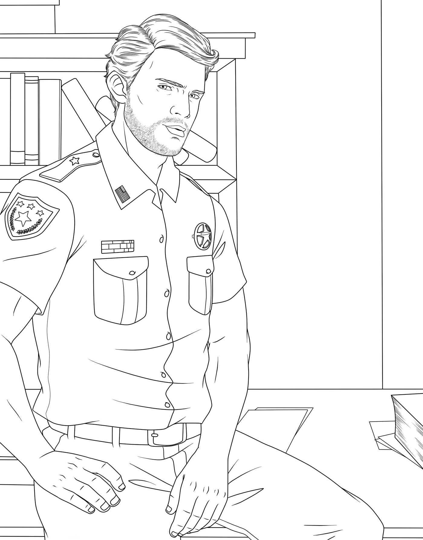 Men coloring #12, Download drawings