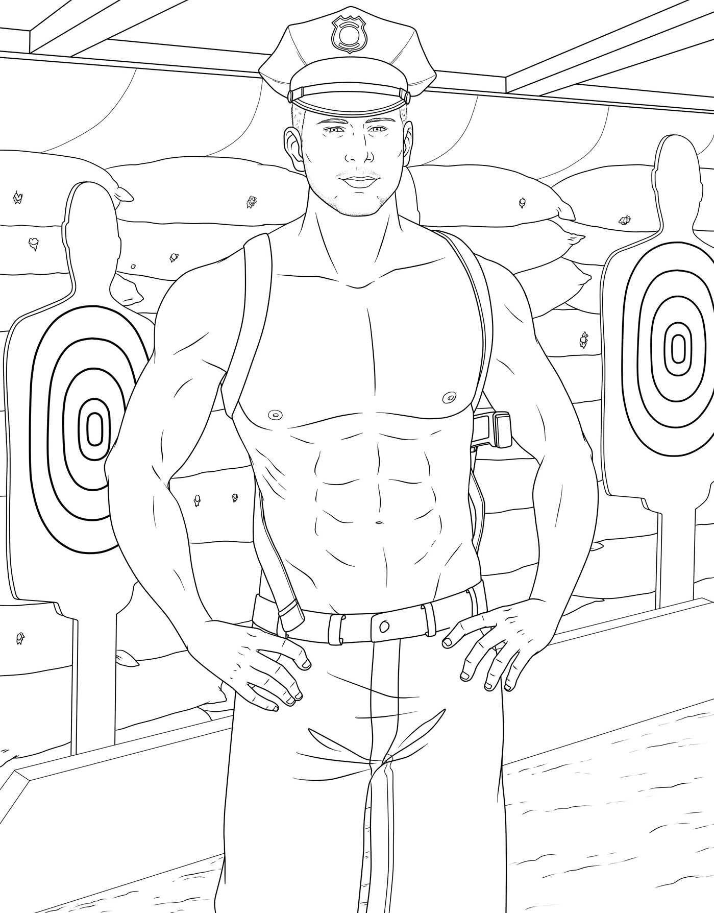 Men coloring #3, Download drawings