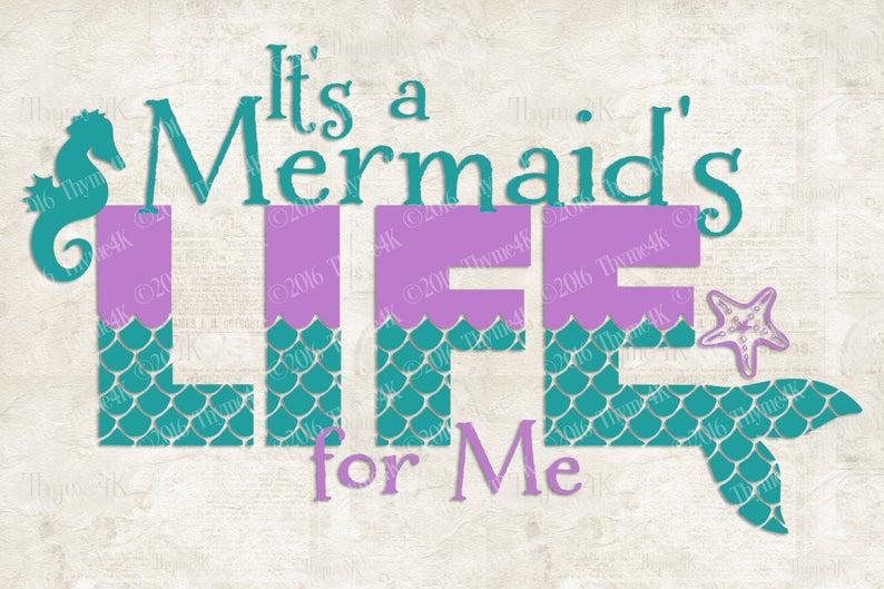 mermaid life svg #342, Download drawings