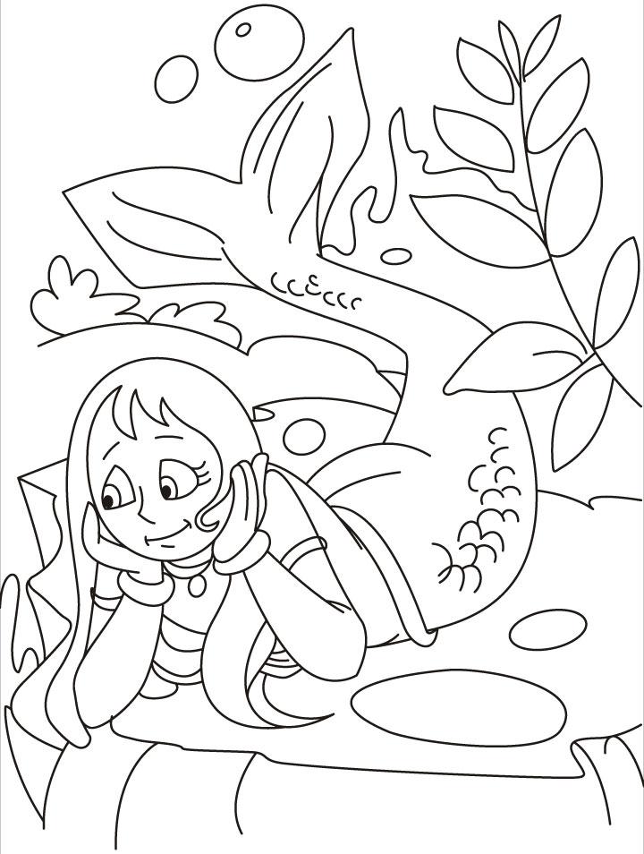 Merman coloring #5, Download drawings