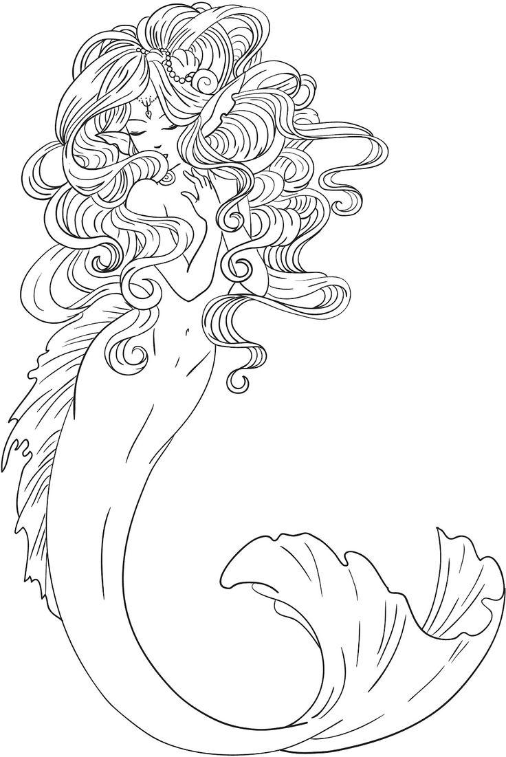 Merman coloring #19, Download drawings