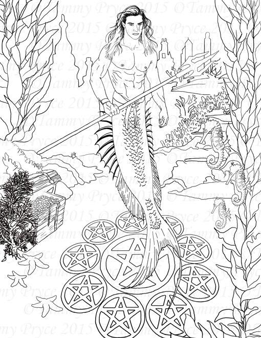 Merman coloring #6, Download drawings