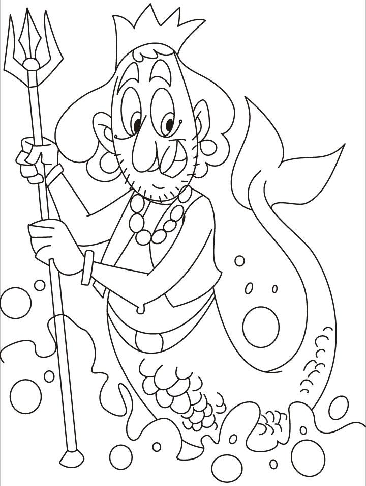 Merman coloring #7, Download drawings
