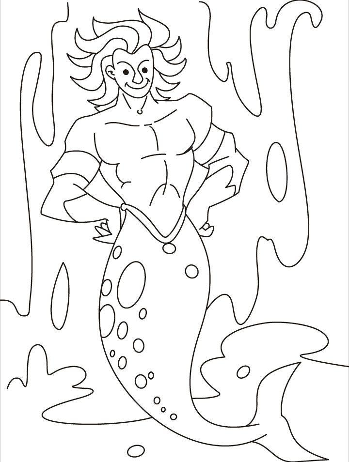 Merman coloring #8, Download drawings