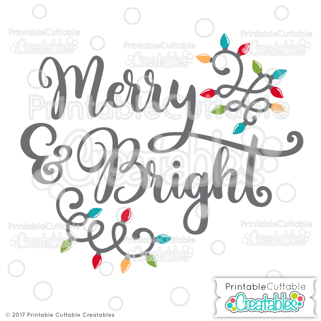 merry and bright svg free #941, Download drawings