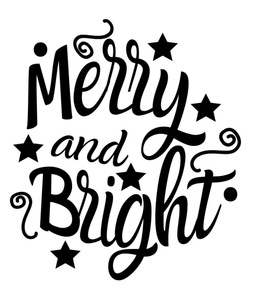 merry and bright svg free #927, Download drawings
