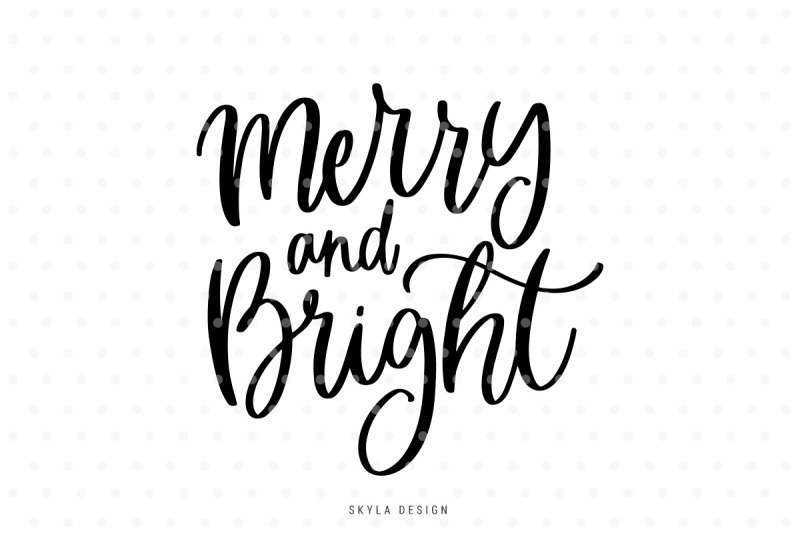 merry and bright svg free #939, Download drawings