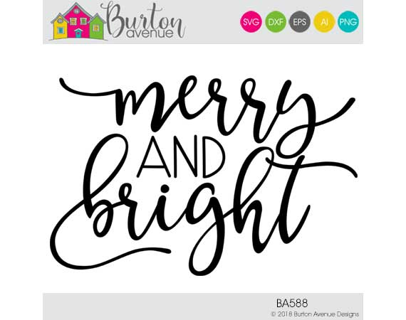 merry and bright svg free #934, Download drawings