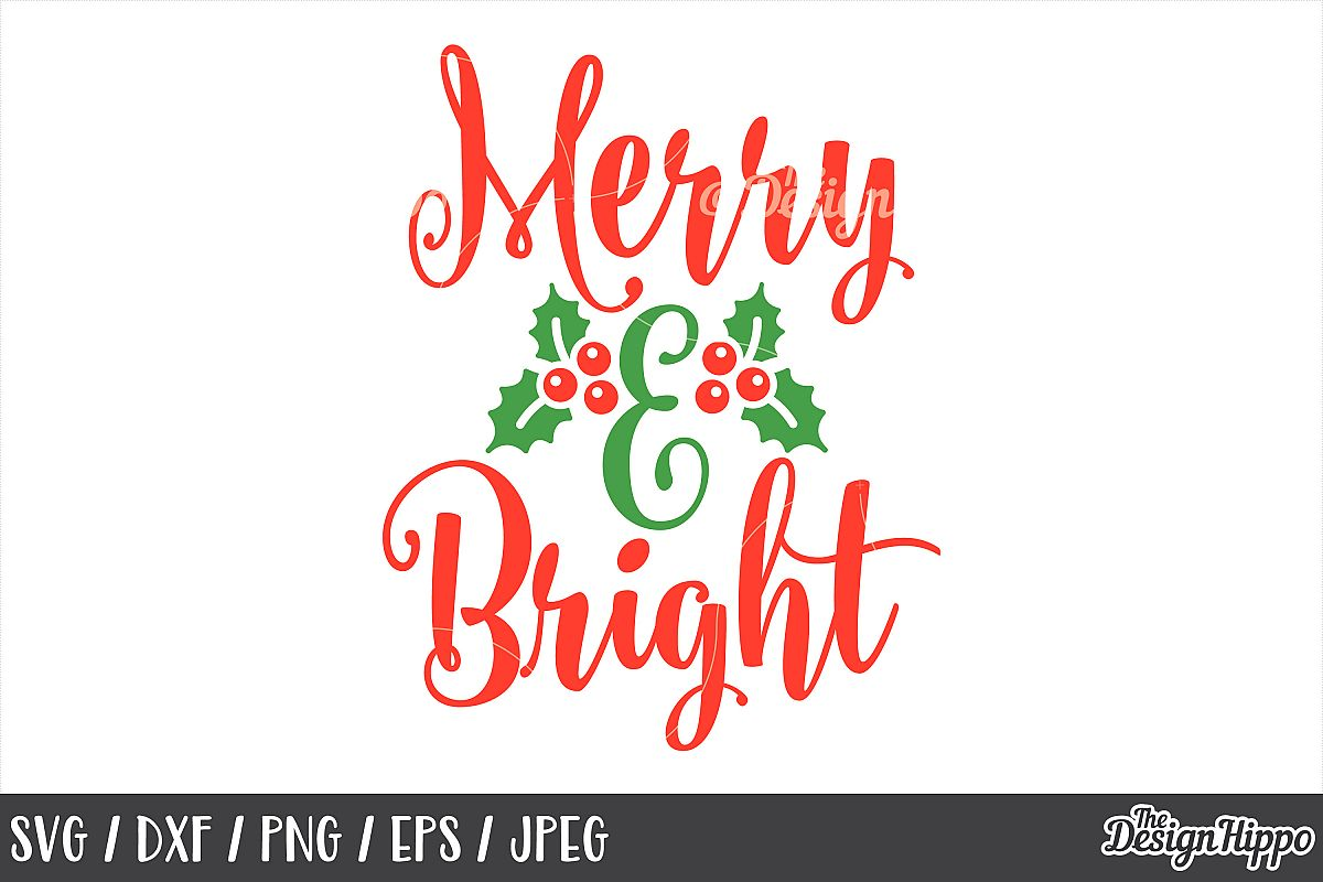 merry and bright svg free #938, Download drawings