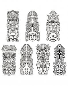 Mesoamerica coloring #2, Download drawings
