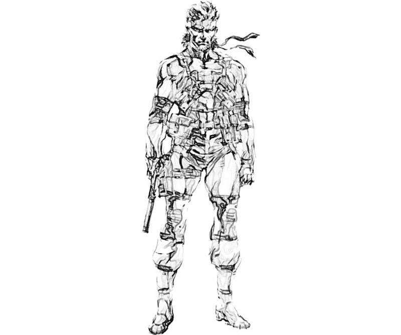 Metal Gear Coloring, Download Metal Gear Coloring For Free