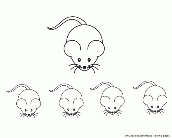 Mice coloring #11, Download drawings