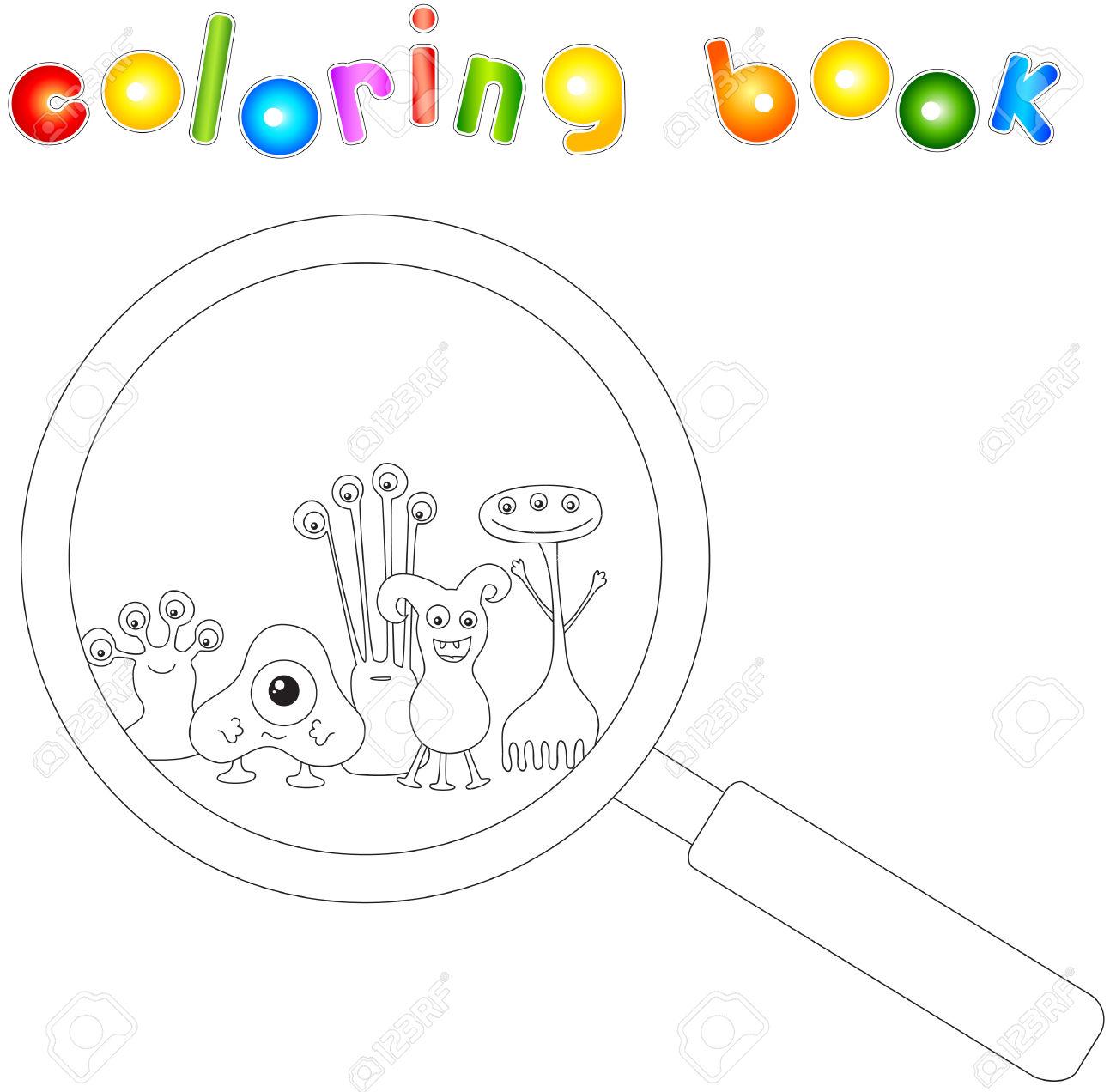 Microbe coloring #14, Download drawings