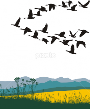 Migration clipart #2, Download drawings