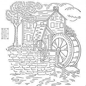 Mill coloring #16, Download drawings