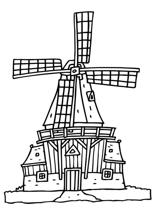 Mill coloring #8, Download drawings