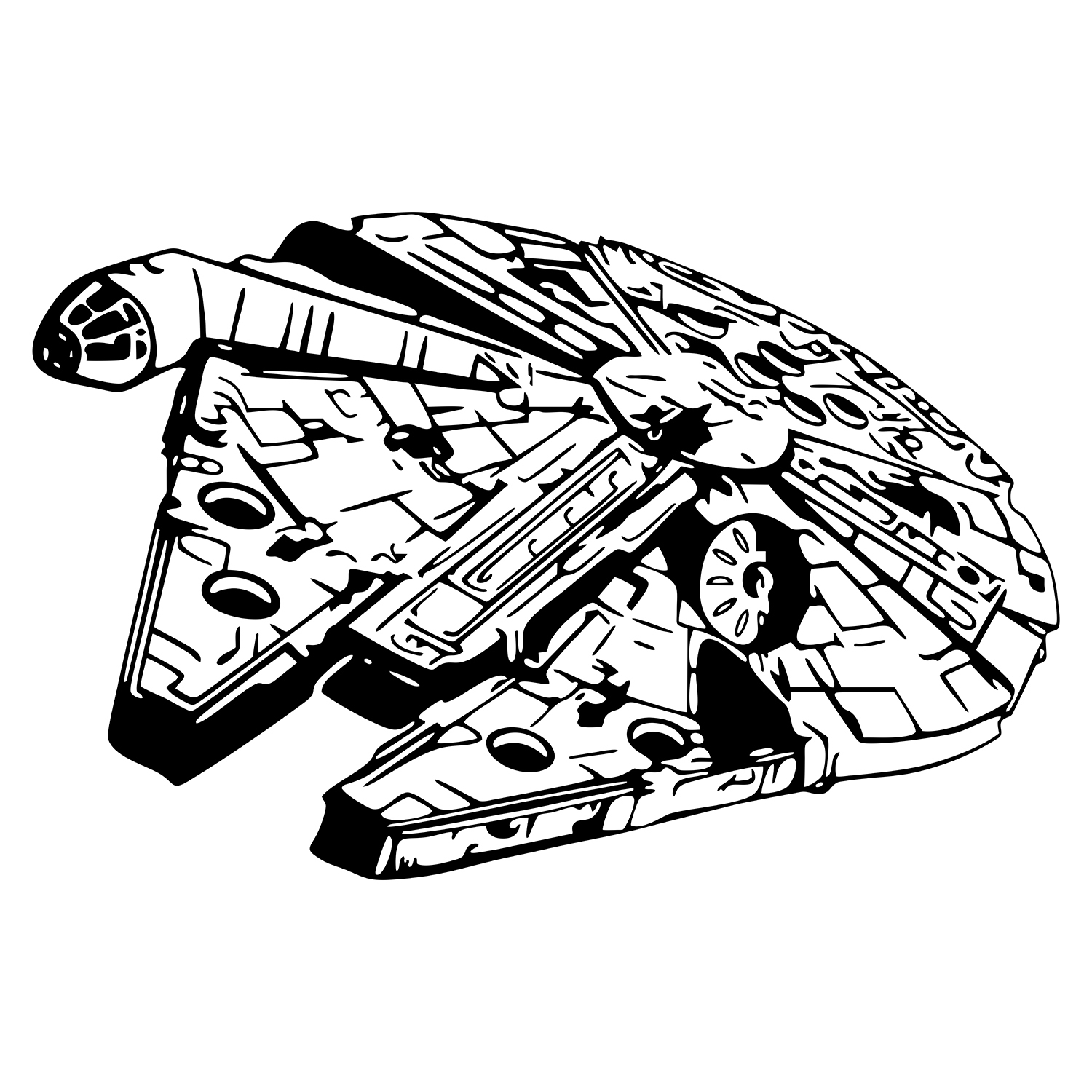 millennium falcon svg #845, Download drawings