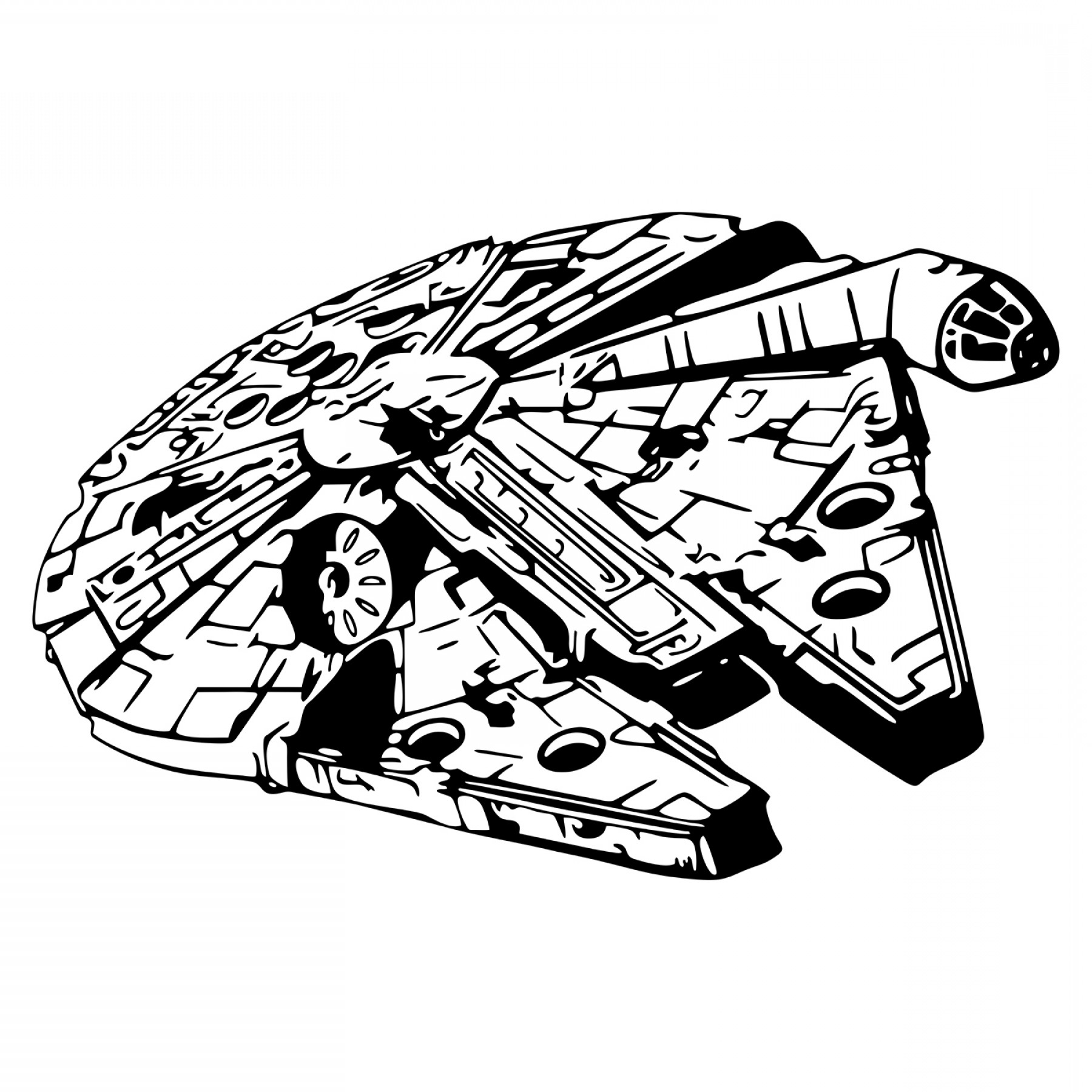millennium falcon svg #847, Download drawings