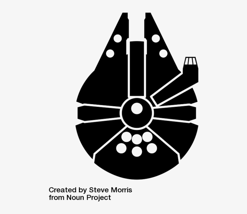 millennium falcon svg #850, Download drawings